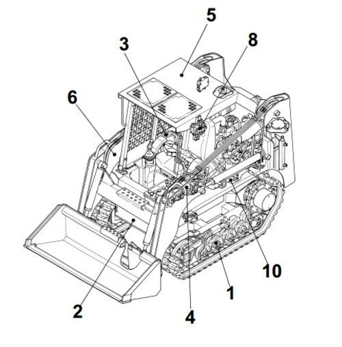 Takeuchi TL240 Crawler Loader Parts Manual