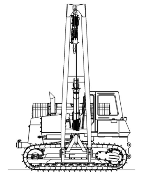 LIEBHERR RL44 PIPE LAYER OPERATION & MAINTENANCE MANUAL (From serial number 11320)