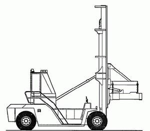 CLARK C500 Y 950 CONTAINER HANDLER TRUCK SERVICE REPAIR MANUAL