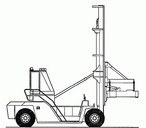 CLARK C500 Y 950 CONTAINER HANDLER TRUCK SERVICE REPAIR MANUAL