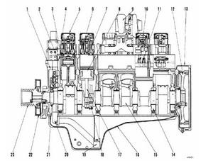 KOMATSU SA12V140Z-1 SERIES DIESEL ENGINE SERVICE REPAIR MANUAL