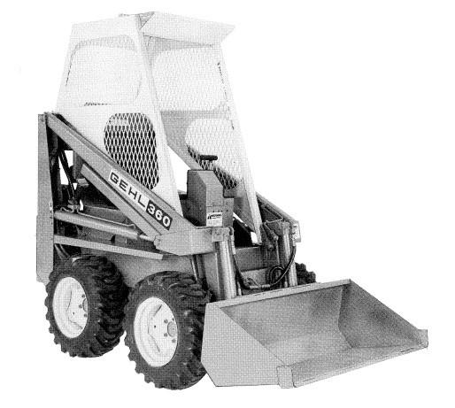 GEHL HL360 Skid Steer Loader Parts Manual