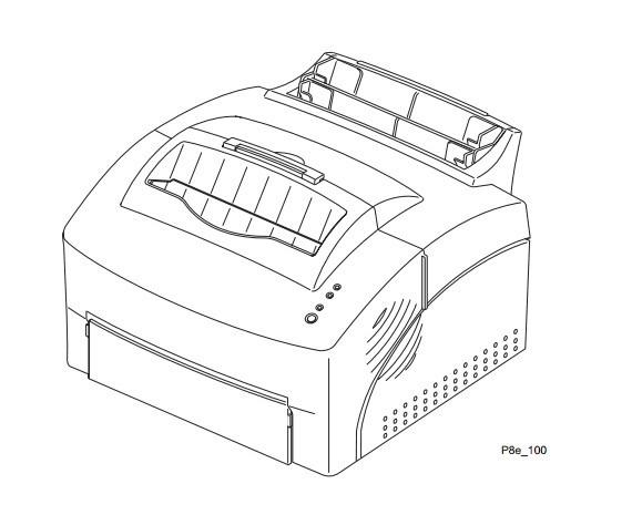 Xerox DocuPrint P8e / P8ex Electronic Laser Printer Service Repair Manual
