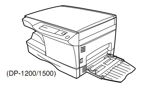 TOSHIBA DP1200, DP1500 DIGITAL PLAIN PAPER COPIER Service Repair Manual