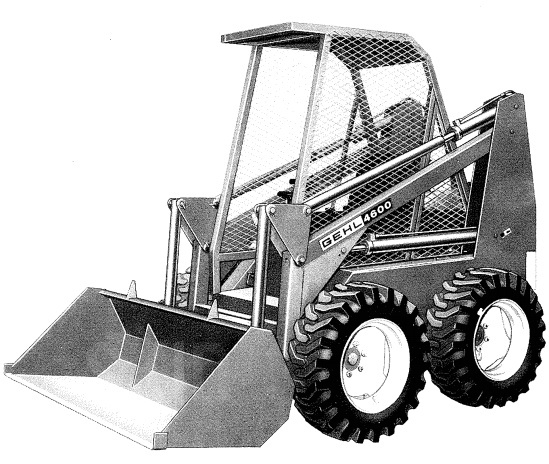 GEHL 4000 Series HL4300 HL4500 HL4600 HL4700 Skid Steer Loader Parts Manual