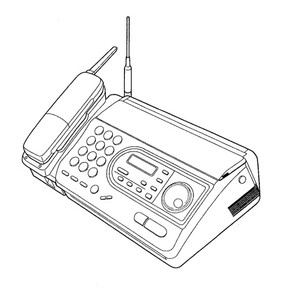 Panasonic KX-FTC47BX Telephone Answering System With Facsimile Service Repair Manual