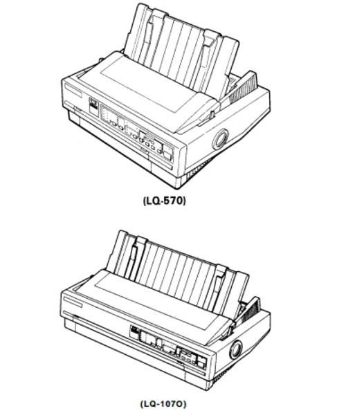 Epson LQ-570 / LQ-1070 Terminal Printer Service Repair Manual