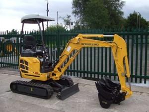 New Holland E18SR Mini Crawler Excavator Service Repair Manual