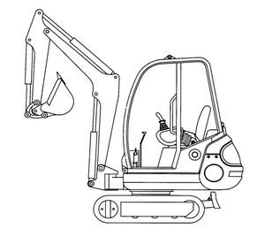 GEHL 142, 152 Mini-excavator Parts Manual