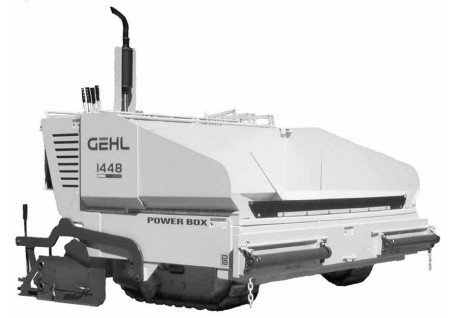 GEHL 1438/1448 Power Box Self-Propelled Paver Parts Manual