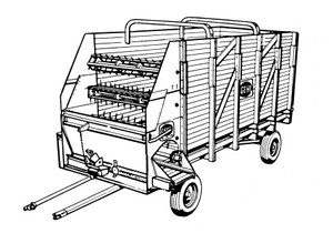 GEHL BU 86 Self Unloading Forage Box With Attachments Parts Manual