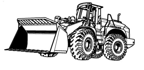 LIEBHERR L554 WHEEL LOADER OPERATION & MAINTENANCE MANUAL (Serial number: 0202)
