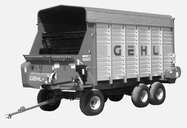GEHL 1660 & 1660HD Front/Rear Unload Forage Boxes Parts Manual