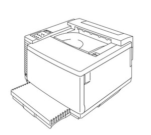 Brother Color Laser Printer HL-3450CN Parts Reference List