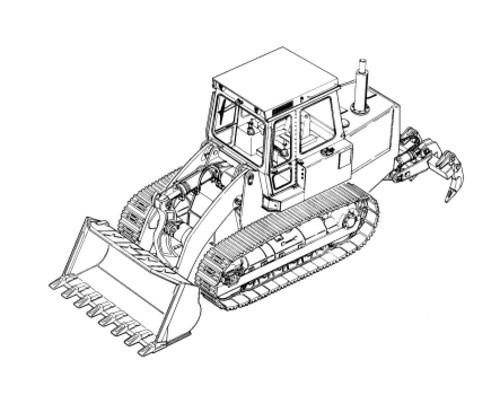 LIEBHERR LR614 Litronic CRAWLER LOADER OPERATION & MAINTENANCE MANUAL (from S/N: 10720)