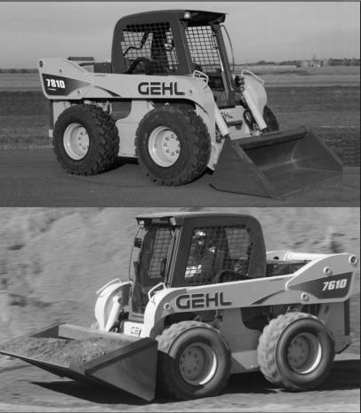 GEHL SL7610, SL7710 (EU), SL7810 Skid-Steer Loaders Parts Manual