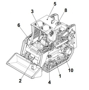 Takeuchi TL250 Crawler Loader Parts Manual