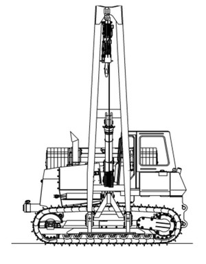 LIEBHERR RL44 PIPE LAYER OPERATION & MAINTENANCE MANUAL (From serial number 11676)