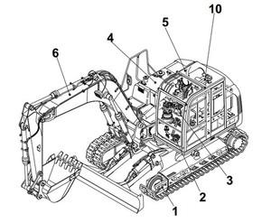 Takeuchi TB1140 Hydraulic Excavator Operation & Maintenance Manual