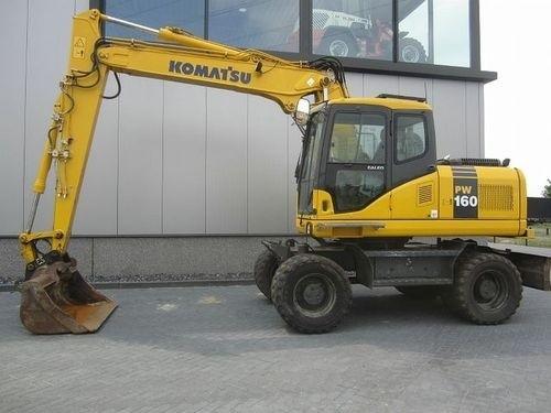 KOMATSU PW160-7H WHEELED EXCAVATOR SERVICE REPAIR MANUAL + OPERATION & MAINTENANCE MANUAL