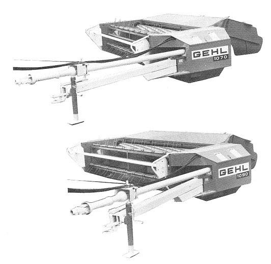 GEHL MC1070, MC1090 Mower Conditioner Parts Manual