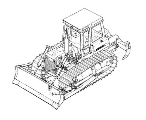 LIEBHERR PR734 Litronic CRAWLER DOZER OPERATION & MAINTENANCE MANUAL (from S/N 10040)
