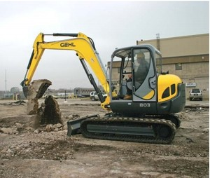 GEHL 803 Compact Excavator Parts Manual