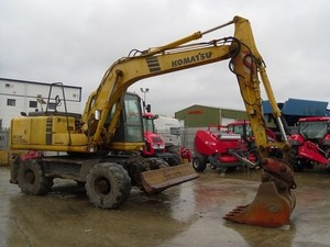 KOMATSU PW150ES-6K WHEELED EXCAVATOR SERVICE REPAIR MANUAL + OPERATION & MAINTENANCE MANUAL