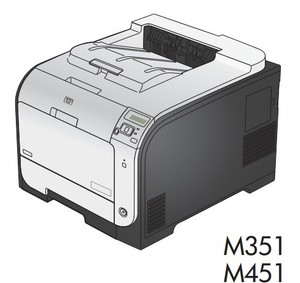 HP LaserJet Pro 300 color M351 and HP LaserJet Pro 400 color M451 Printers Service Repair Manual