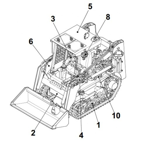 Takeuchi TL220 Crawler Loader Parts Manual