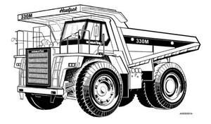 KOMATSU 330M DUMP TRUCK SERVICE REPAIR MANUAL + OPERATION & MAINTENANCE MANUAL