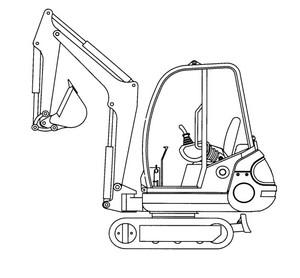 GEHL 192, 222 Mini-excavator Parts Manual
