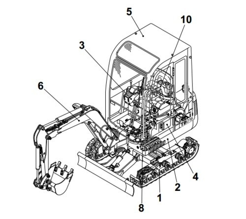 Takeuchi TB108 Compact Excavator Parts Manual (S/N: 10820001-)