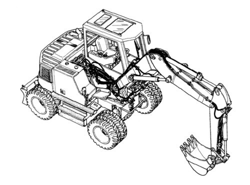 LIEBHERR A316 Litronic HYDRAULIC EXCAVATOR OPERATION & MAINTENANCE MANUAL