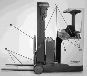 crown esr4000 series forklift service repair factory manual instant download