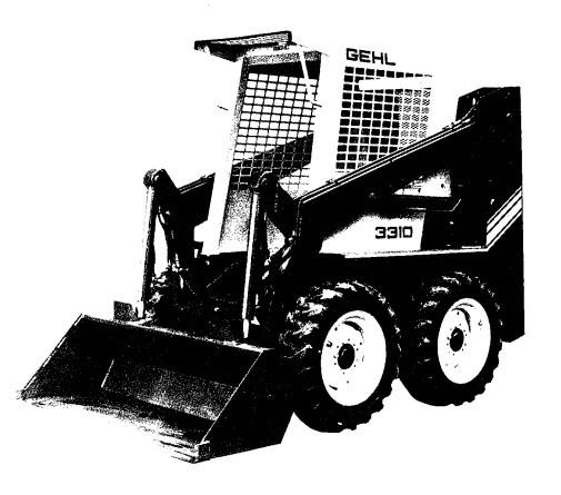 GEHL 3310/3410 Skid Loader Parts Manual