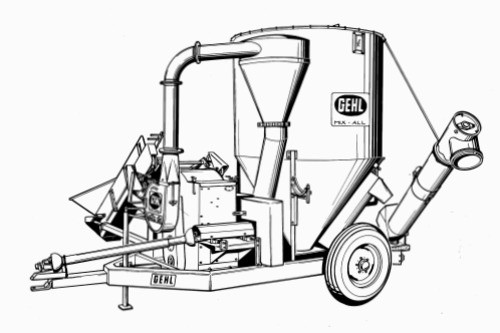 GEHL 50MX Mix-All Feedmaker With Attachments Parts Manual