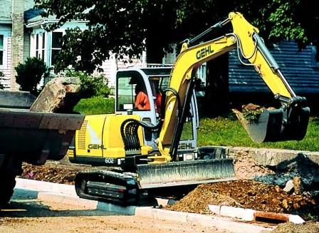 GEHL 602 Compact Excavator Parts Manual
