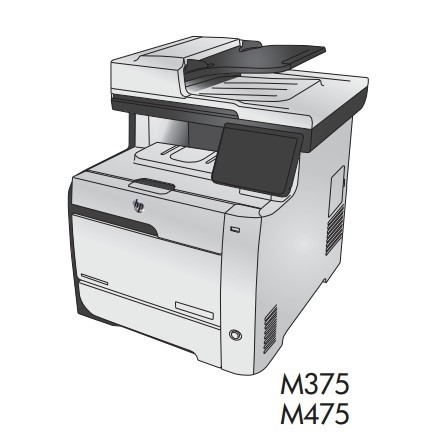 HP LaserJet Pro 300 color MFP M375 and HP LaserJet Pro 400 color MFP M475 Printers Service Manual