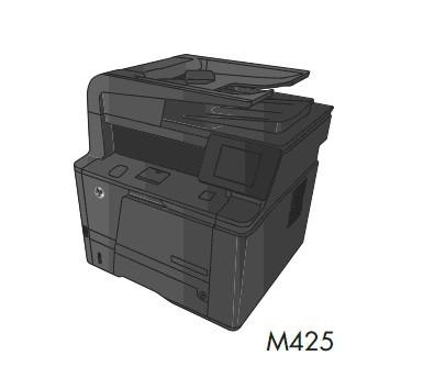 HP LaserJet Pro 400 MFP M425 Series Service Repair Manual