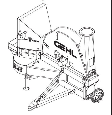 GEHL 1540/1580 Forage Blowers Parts Manual