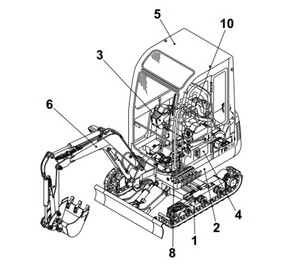 Takeuchi TB1140 Compact Excavator Parts Manual (Serial No.51420001-)