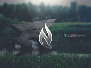 Red Rated Header PSD