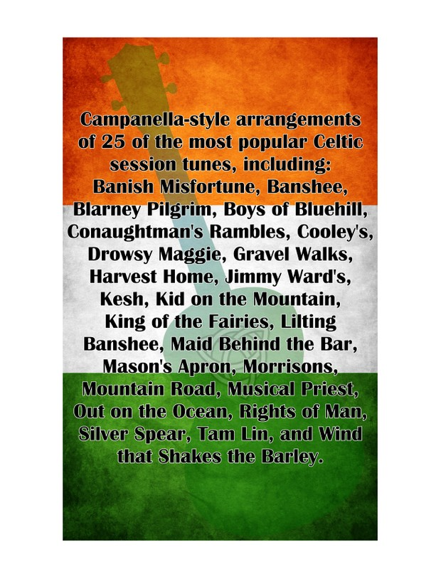 Top 25 Celtic Session Tunes for Ukulele : SUPERPACK (PDF, FINALE, MUSICXML)