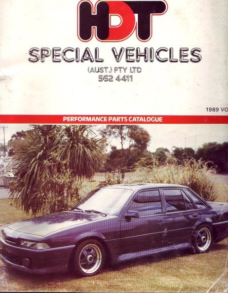 HDT SPECIAL VEHICLES PERFORMANCE PARTS CATALOGUE