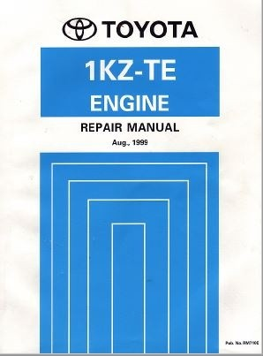 Toyota 1KZ-TE Engine Repair Manual (RM710E)