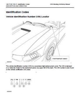 2003 Ford Mustang Workshop Manual