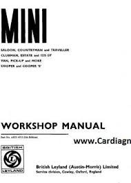 1971 Mini Cooper Workshop Manual