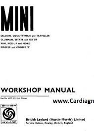 1971 Mini Cooper Workshop Manual