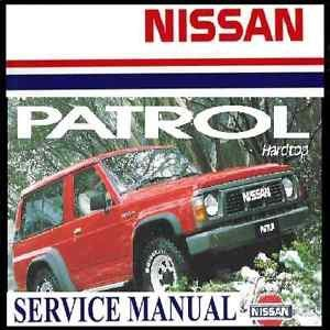 Nissan Patrol GR-Y60 TD42 TB42 & RB30S Ford Maverick Service Manual